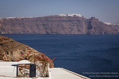 View from Oia, Santorini, Greece