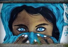 Occhi specchio dell' anima (Arcieri Saverio) Tags: nikon murales blue calabria italy stilllife nikkor 55300mm street occhi azzurro sky