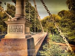 modtbrua (C.Bry@nt) Tags: norge norway noruega norsk norske norwegian nordic scandinavian skandinavia akershus oslo iphone7 apple bro bridge puente grnerlkka akerselva kubapark aamodtbro modtbrua suspensionbridge