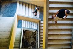 Up&up. (De Luca Sara) Tags: escher people stairs streetphotography abandoned architecture