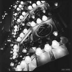 Orient Express (James Mundie) Tags: jamesmundie jamesgmundie profjasmundie jimmundie mundie copyrightjamesgmundieallrightsreserved copyrightprotected blackandwhite blancetnoir noir black monochrome monochromatic bw blancoynegro biancoenero schwarzweis mediumformat squareformat 120mm 120film 6x6 film analog yashicaa mittelformat tlr twinlensreflex palaceplaylandamusementpark old orchard beach oldorchardme maine downeast rollercoaster