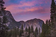 Yosemite Falls at Sunset (Xiang&Jie) Tags: yosemitenationalpark yosemite yosemitefalls sunset falls mountain tree landscape cloud