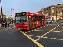 LK55 KMG (DLD708) seen here at King's Cross St Pancras working the 214 (West Scotland Transport) Tags: dennisdartplaxtonpointer dld708 highgatevillage 214 stpancras kingscross doubledoor kmg lk55 lk55kmg bus decker single tfl transportforlondon londonbus pointer plaxton plaxtonpointer dennisdart dart dennis london metrolinelondon metroline