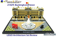This is certainly a detailed piece of LEGO Architecture structure (WhiteFang (Eurobricks)) Tags: lego architecture set landmark country buckingham palace victoria elizabeth royal royalty family crown jewel imperial statue tourist united kingdom uk micro bus taxi