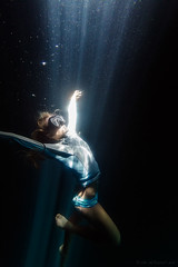 Depths (eDamak) Tags: underwater scuba snorkel light cenote depth mask apnea freediving mexico travel mermaid breathe blue deep photography edamak moirafilms