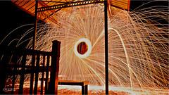 Steel Wool (OsytoPhoto Louis Mitch) Tags: forest outdoor spark color hdr sony6k sonyalpha 1650mm osytophoto light dark darkness firepaint lightpaint firespin fire steel night hd steelwool sonyalpha6000 sonyalpha6k sky reflexion bluesky longexpo longexposures longexposure steelwoolphotography