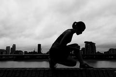 Morning Silhouette (ArnabKGhosal) Tags: arnabkghosal arnabghosalphotography nikon blackandwhite silhouette arnabghosal dathan freyaberry lighting photoshoot solrox strobist lifestylephotography wwwarnabkghosalcom greenwich running dramaticskies canarywharf