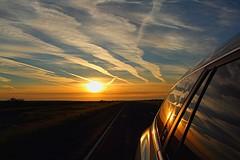 Chasing daylight (papanaron) Tags: memories blueskies reflection travel westtexas light car auto sunset sunrise
