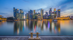 marina bay sands twilight ,singapore (jaywu429) Tags: sony singapore sonya7r sky skyline sonycamera singaporeriver sony1635mmf4 landscape cityscape lights reflection twilight dusk downtown bluehour bluesky clouds outdoor explore