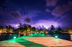 Belize Thunderstorm (lancescapes photography) Tags: lightning thunderstorm nature belize beach ocean clouds sky night