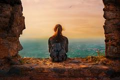 Non smetteremo mai di esplorare... (Caterina Zito) Tags: girl landscape cityscape sunset sky clouds castle italy fotoamatorigioiesi redheads portrait travel sangiorgiomorgeto paesaggio wow