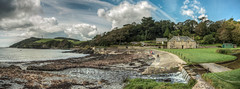 Menabilly And The Gribben (_ justintheframe_) Tags: panorama nikon cornwall panoramic fowey d800 sigma1224 menabilly tonemapped thenationaltrust gribben gribbenhead justintheframe thegribben