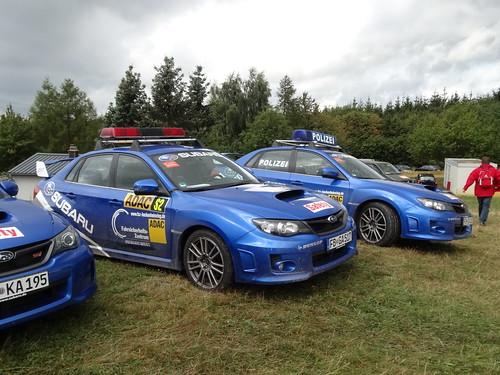ADAC Rallye Deutschland 2012 303 WP9 Arena Panzerplatte - Polizei Subaru