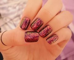 camaleão (Alana Gomes (aagomes)) Tags: love ana purple nail polish story techno impala roxo hickmann unha esmalte flocado