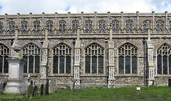 Holy Trinity Church, Blythburgh, Suffolk, England (the nave from the south) (Hunky Punk) Tags: uk windows england pierced architecture suffolk gothic churches medieval nave perpendicular middleages holytrinity parapet tracery crowns clerestory blythburgh hunkypunk quatrefoils spencermeans