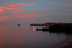 red sky over the harbour (Georgio's Photography) Tags: longexposure sunset red sky night lowlight sundown groyne whitstable