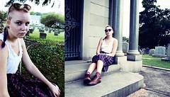 Summers 9-9-2012 026 (callmehelen) Tags: graveyard sunglasses collage hipster longhair double graves spooky babes prettygirls summers fishtail hipgirls summers992012