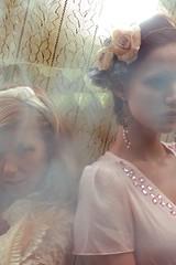 Smoke and Light (angiecandell) Tags: flowers girls light birdcage beautiful fashion forest photography washington woods women pittsburgh dress lace smoke models ethereal dreamy porcelain waynesburg