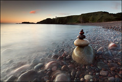 Todhead Point (angus clyne) Tags: ocean blue light red sea summer sky cliff seascape tower art home rock stone night photoshop canon print lens landscape dawn coast scotland still long exposure aberdeenshire angle time angus dusk walk tide north