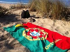 On the beach (elmada) Tags: ocean costa praia beach portugal water strand dunes towel atlantic beachtowel atlanticocean praias caparica costadacaparica almada elmada oceanoatlantico portugaltowel