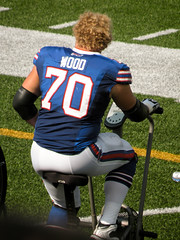 Eric Wood Lets His Curls Fly (MattBritt00) Tags: ny newyork sports football buffalo buffalobills bills stadium nfl afc americanfootball orchardpark footballstadium ralphwilsonstadium nationalfootballleague ericwood americanfootballconference