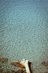El embarcadero (fertraban) Tags: blue sea beach azul puente mar agua mediterraneo playa ibiza embarcadero eivissa isla baleares caladhort