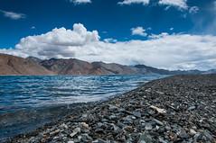 Paradise (Viswas Nair TK) Tags: blue sky india lake mountains water landscape nikon north pebbles tso nikkor ladakh pangong d90 18105mm chantang