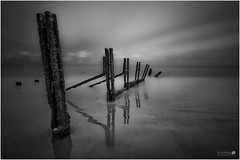Decay Revisited (LeePellingPhotography.co.uk) Tags: sea sky white seascape black beach reflections mono coast big sand long exposure 10 decay stop le lee warren folkestone stopper groynes ocea pelling nd110
