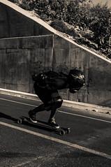 Black Ryder (Tj Cowboy) Tags: street people sport mexico nikon skateboarding tunnel downhill september skate longboard bajacalifornia tijuana playas 2012 d90 nikond90