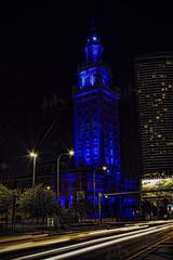 Freedom Gets The Blues (davidharris518) Tags: travel urban night canon photography florida miami cities topaz travelphotography longexposuresnight