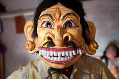 Mask at Shamaguri Satra_0980 (hkoons) Tags: india island temple worship shrine vishnu mask god prayer religion monastery masks gods hindu assam centralasia deity beliefs brahmaputra satra brahmaputrariver assamese majuli majoli shamaguri