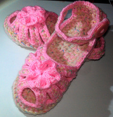 Pink Candy (Shushie's Photos) Tags: crochet slippers