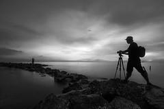 Capture The Moment (Muhammad Hafiz Muhamad) Tags: white black landscapes seascapes malaysia pantai selangor remis mhafiz87