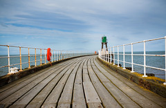 WHITBY PIER (stafford.boy66) Tags: travel england beach landscape coast seaside nikon yorkshire scenic whitby d700