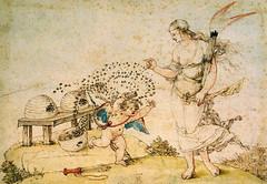 Drer - Cupid the honey thief [1514] watercolor (petrus.agricola) Tags: vienna wien watercolor honey thief cupid drer albertina albrecht