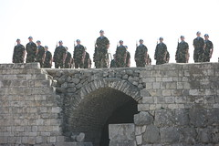 Irish Platoon on parade on roof of Tibnin Castle