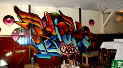 Klick Clack Bar (COLOR IMPOSIBLE CREW) Tags: chile color bar graffiti crew 2012 clack zade imposible quilpue fros klick