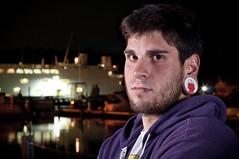 Craig (Jonathan Greco) Tags: longexposure portrait male beard purple sb600 ears piercings gauges lippiercing sb700