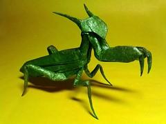 Praying Mantis (Yarik__) Tags: robert paper mantis uncut origami praying lang