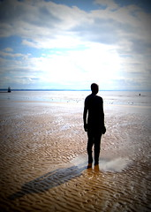 Another Place at Crosby Beach (chrisbell50000) Tags: shadow sculpture man men beach modern naked nude lomo sand iron place bare anthony another sculptures gormley crosby merseyside undressed blundellsands chrisbellphotocom