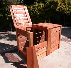 "2-Bin Montessori Compost Bin - panels off • <a style=""font-size:0.8em;"" href=""https://www.flickr.com/photos/87478652@N08/8047995047/"" target=""_blank"">View on Flickr</a>"