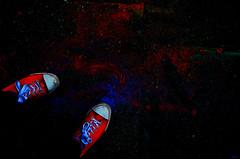 Trip to the stars (FabiArdeu) Tags: red black color stars foot rojo negro colores galaxy pies estrellas universe galaxia zapatillas universo planetas