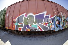 FLERT AUB 3EK (Chasing Paint) Tags: railroad train graffiti pinky freight aub flert 3ek phlert