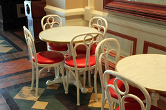 Some of Casey's Corner arcade seatings (House Of Secrets Incorporated) Tags: france table chair mainstreet disney disneylandparis mainstreetusa marnelavalle libertyarcade caseyscorner