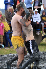 Mud Wrestling at the Lowland Games (lens buddy) Tags: uk girls men boys canon fight lads mud wrestling somerset dirty bikini mudwrestling muchelney dirtygirls langport mudfight thorney eos7d sydenhamcameraclub ladiesmudwrestling lowlandgames2012