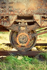 Rusted to the spot (Rory Prior) Tags: wheel train rust track crane rail alderney channelislands corrode hohe145