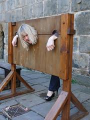 Chirk Castle Pillory (Gruntlepob) Tags: chirk stocks pillory chirkcastle villagestocks
