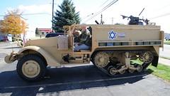 Pulling out..... (tbower) Tags: history video nikon raw nef restoration idf historicpreservation halftrack militaryvehicle m3a1 cs5 israelidefenseforce d3s nikkor24120f4vr