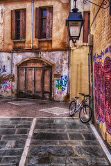 Old town, Rethymno (Theophilos) Tags: bicycle alley crete oldtown rethymno