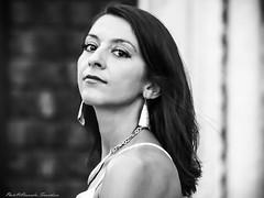 Portrait: Ramona (alessandrafinocchiaro67) Tags: portrait woman monochrome beautiful beauty blackwhite open nicefeelings nikonflickraward artisawoman